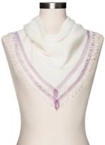 Merona Fashion Scarves White with Stripe Border