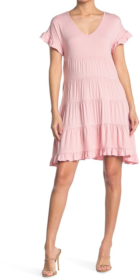Thumbnail for your product : Angie V-Neck Tiered Dress