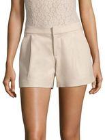 Alice + Olivia Arosa Pleated Leather Shorts
