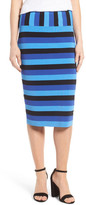 Halogen Stripe Pencil Skirt