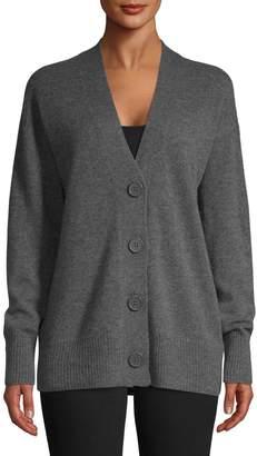 Equipment Button-Front Cashmere Cardigan
