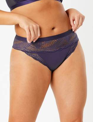 M&S CollectionMarks and Spencer Lace Sheer High Leg Knickers