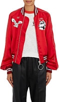 "Off-White Women's ""Greenland"" Satin Bomber Jacket"
