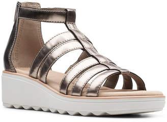 Clarks Collection Women Jillian Nina Wedge Sandals Women Shoes