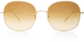 Oliver Peoples Mehrie Round-Frame Metal Sunglasses