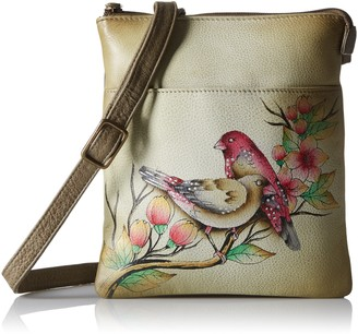 Anuschka Hand Painted Leather Rfid Blocking Triple Compartment