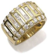 Tatitoto Gioie Women's Ring in 18k Gold with White Cubic Zirconia, Size 8.5, 11 Grams