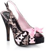 Bettie Page Black Pink Laverna Pump