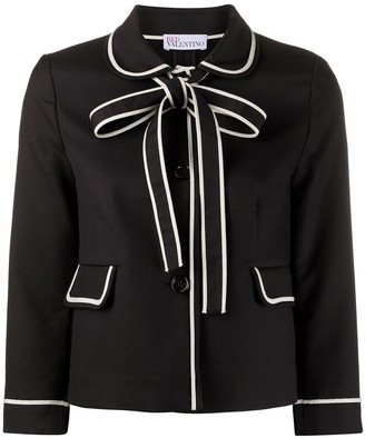 RED Valentino Bow Detailed Cropped Jacket