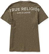 True Religion Stacked Logo Short-Sleeve Crewneck Tee
