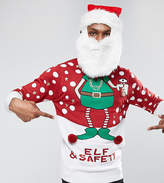 Brave Soul Tall Christmas Elf And Safety Jumper