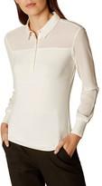 Karen Millen Georgette-Detail Shirt