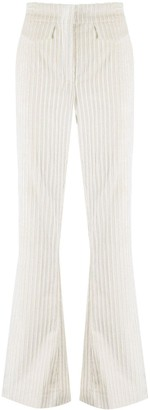 Dorothee Schumacher Flap-Pocket Flared Corduroy Trousers
