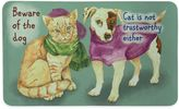 """Bacova Beware of Dog and Cat"""" 17.5-Inch x 29-Inch Multicolor Kitchen Mat"""