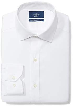 Buttoned Down Men's Tailored Fit Spread-Collar Solid Non-Iron Dress Shirt (No Pocket),(Big and Tall)
