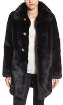 Kate Spade Women's Jewel Button Faux Fur Jacket