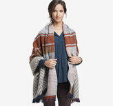 Johnston & Murphy Plaid/Chevron Blanket Scarf