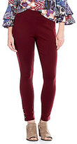 Intro Petites Pull-On Grommet Detail Hem Double Knit Leggings