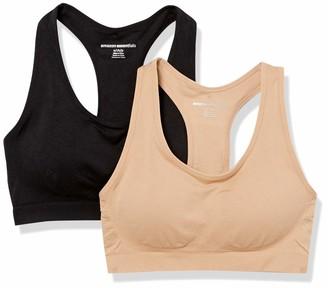 Amazon Essentials Women's 2-Pack Light-Support Seamless Sports Bras