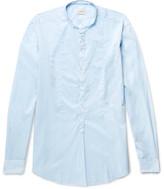 Massimo Alba Kos Grandad-collar Cotton Shirt - Azure