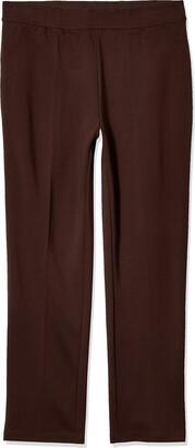Slim Sation SLIM-SATION Women's Plus Size Faux Slant Pocket Elastic Waist Solid Pant