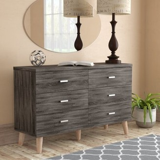 Grosso 6 Drawer Double Dresser Wrought Studio Color: Distressed Gray