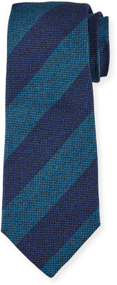 Kiton Men's Wide-Stripe Silk Tie