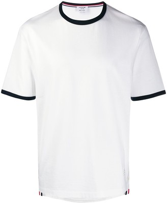 Thom Browne contrasting-trim T-shirt