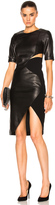 Thierry Mugler Soft Leather & Technical Cady Dress