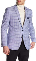 Nick Graham Plaid Two Button Notch Lapel Trim Fit Sport Coat