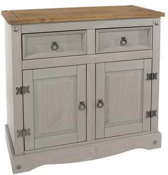 "Gracie Oaks Childers 36"" Wide 2 Drawer Pine Wood Server Gracie Oaks"