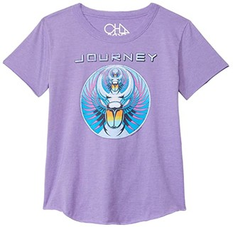 Chaser Recycled Vintage Jersey Short Sleeve Shirttail Crew Neck (Little Kids/Big Kids) (Genie) Girl's Clothing