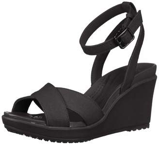 Crocs Women's Leigh II Ankle Strap Wedge W Sandal