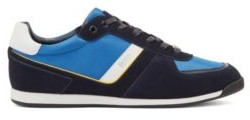 HUGO BOSS Low Top Trainers In Leather, Suede And Technical Fabric - Light Blue
