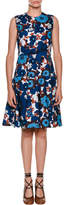 Marni Sleeveless A-Line Floral-Print Poplin Dress