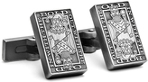 Robert Graham Silvertone 'In with the Bold' Cuff Links