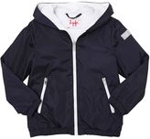 Il Gufo Nylon & Cotton Jersey Hooded Jacket