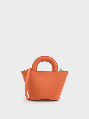 Charles & Keith Patent Trapeze Bag