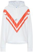 Tory Sport Printed cotton hoodie