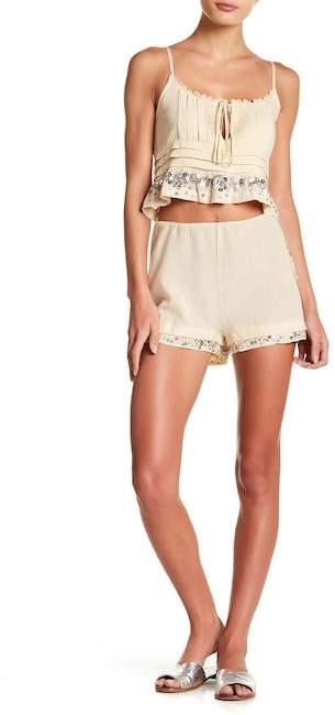 Honey Punch Sequin Trim Shorts