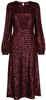 Borgo de Nor Sequin Embroidered Midi Dress