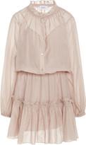 Bird & Knoll Bijoux Flounce Cotton Silk Dress