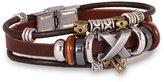 Fashion Plaza Unisex Cross Pendant Triple Punk Leather Bracelet L99