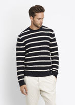Vince Textured Striped Crew