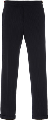 Thom Browne Low-Rise Textured Wool Trousers