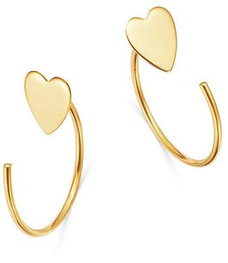 Moon & Meadow Heart Front-to-Back Earrings in 14K Yellow Gold - 100% Exclusive
