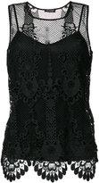 Twin-Set sleeveless macramé blouse - women - Spandex/Elastane/Viscose - 38