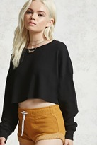 Forever 21 FOREVER 21+ Raw Edge Crop Top