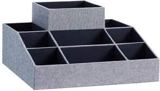 Pottery Barn Teen Jane 8 Compartment Fabric Organizer W/ Tissue, Chambray