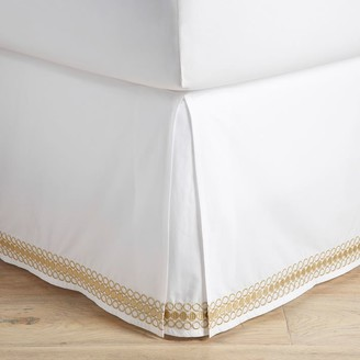Pottery Barn Teen Lilly Pulitzer Organic Embroidered Trim Bed Skirt